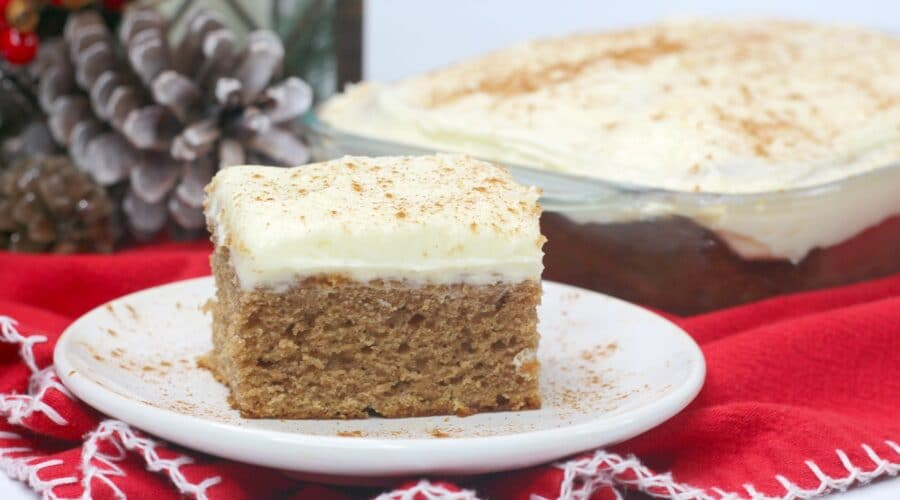 gingerbread sheet cake