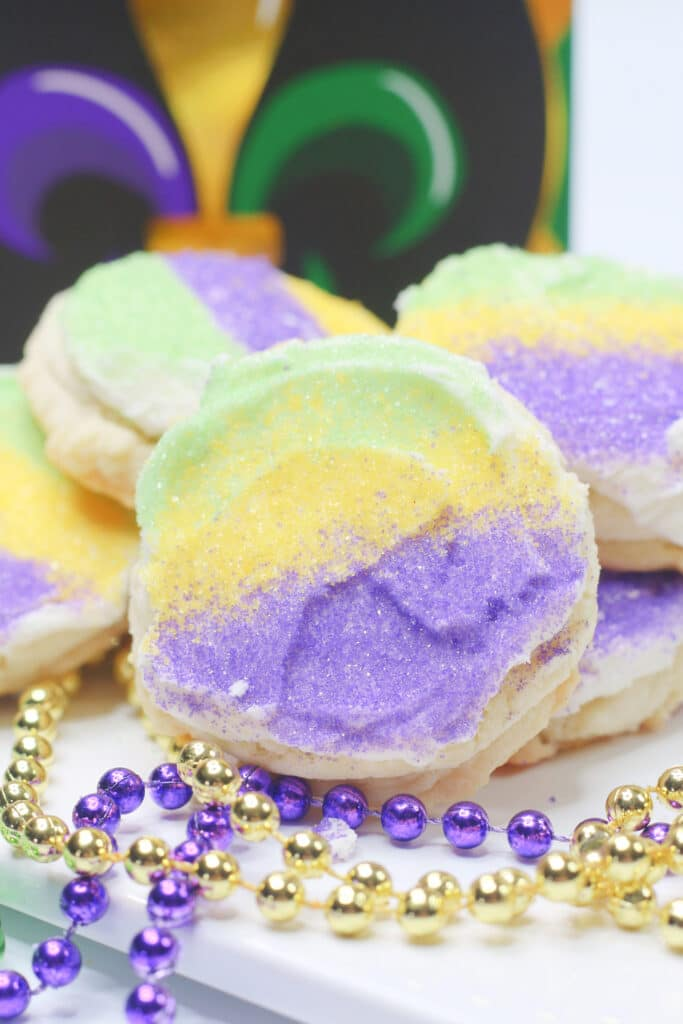 Mardi Gras Cookie