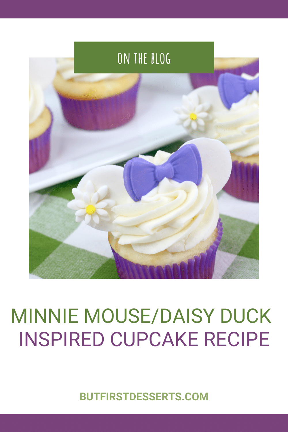 Minnie Mouse| Daisy Duck Inspired Cupcake Recipe